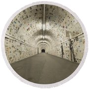 News In The Tunnel Round Beach Towel