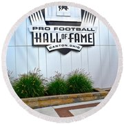 Nfl Hall Of Fame Round Beach Towel by Frozen in Time Fine Art Photography