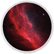 Ngc 1499, The California Nebula Round Beach Towel