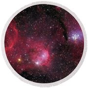 Ngc 3293, The Gem Cluster And Gabriela Round Beach Towel