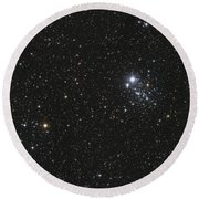 Ngc 457, The Owl Cluster Round Beach Towel