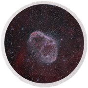 Ngc 6888, The Crescent Nebula Round Beach Towel