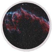 Ngc 6992, The Eastern Veil Nebula Round Beach Towel
