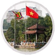 Ngoc Son Temple  01 Round Beach Towel