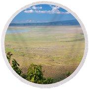 Ngorongoro Crater In Tanzania Africa Round Beach Towel