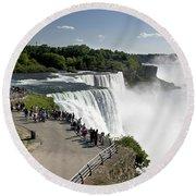 Niagara Falls - New York Round Beach Towel