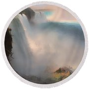 Niagara Falls From The American Side Round Beach Towel