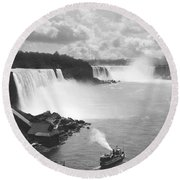 Niagara Falls Maid Of The Mist Round Beach Towel