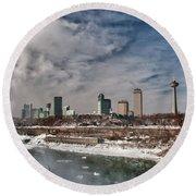 Niagara Falls The City 4534 Round Beach Towel