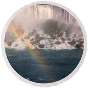 Niagara Rainbow Round Beach Towel