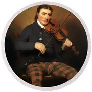 Niel Gow - Violinist And Composer Round Beach Towel