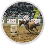 Night At The Rodeo V25 Round Beach Towel
