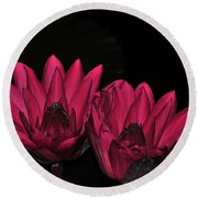 Night Blooming Lily 1 Of 2 Round Beach Towel