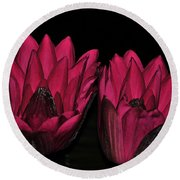 Night Blooming Lily 2 Of 2 Round Beach Towel