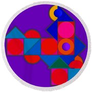 Night Color Round Beach Towel