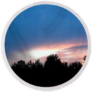Night Falls Round Beach Towel