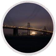 Night Falls On San Francisco Round Beach Towel
