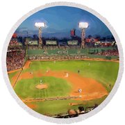 Night Fenway Pop Round Beach Towel