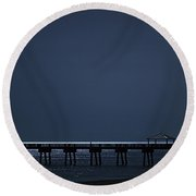 Night Influence Round Beach Towel by Laura Fasulo