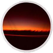 Night Lights A Pair Of Red Round Beach Towel