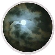 Night Of The Moon Round Beach Towel