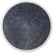 Night Radiation  Round Beach Towel