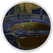 Night Shadows In Saville Round Beach Towel