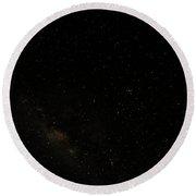 Night Sky Showing Scorpius-centaurus Round Beach Towel