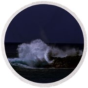 Night Surf Round Beach Towel