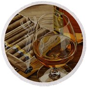 Nightcap Round Beach Towel by Cory Still