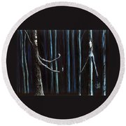 Nightfall Secret Round Beach Towel