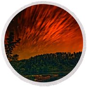 Nightfire Round Beach Towel