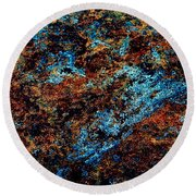 Nightlife - Abstract Panorama Round Beach Towel