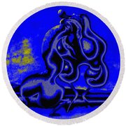 Nightly Longing Round Beach Towel