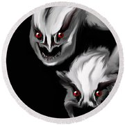 Nightmare Companions Round Beach Towel