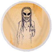 Nightmare Sketch Round Beach Towel