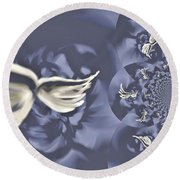 Nights In White Satin Round Beach Towel by Absinthe Art By Michelle LeAnn Scott
