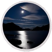 Nights In White Satin Round Beach Towel by Heiko Koehrer-Wagner