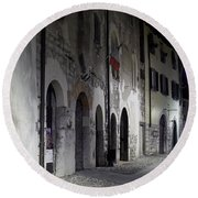 Nightscape. Iseo Round Beach Towel