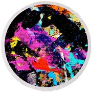 Nighttown Xii Round Beach Towel