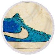 Nike Blazer Turq 2 Round Beach Towel