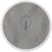 Nikola Tesla's Incandescent Electric Light Patent 1894 - Grunge Round Beach Towel