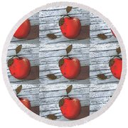 Nine Apples Round Beach Towel