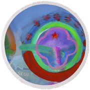 Nine Eleven Image Round Beach Towel