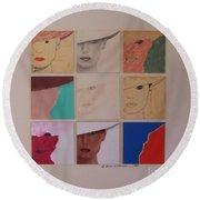 Nine Ladies Lolling Round Beach Towel