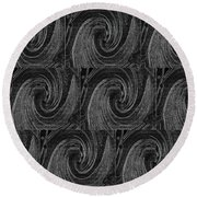 Nine Times On Black Round Beach Towel