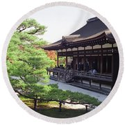 Ninna-ji Temple Garden - Kyoto Japan Round Beach Towel