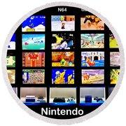 Nintendo History Round Beach Towel