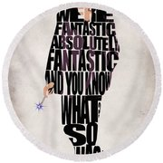 Ninth Doctor - Doctor Who Round Beach Towel