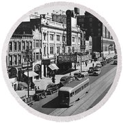 Ninth Street In Brooklyn Round Beach Towel
